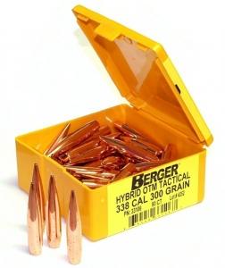 Berger Bullets lőszerek ballisztikája