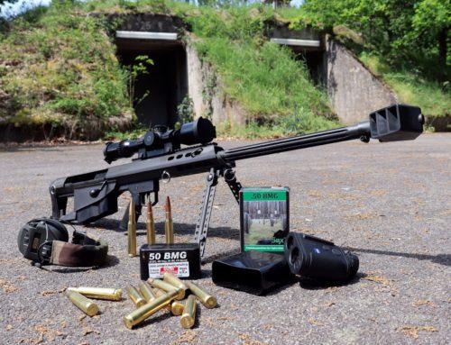 Barrett M95 .50 BMG kaliberű bullpup ismétlőpuska: A nagy 50-es puskával a lőtéren.